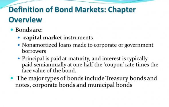 Bond Markets. Chapter Outline Definition of Bond Markets: Chapter