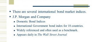 Bond market indices